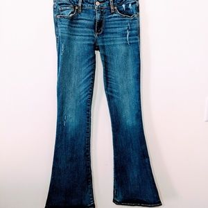 Abercrombie and Fitch Distressed Flare Jeans, 2